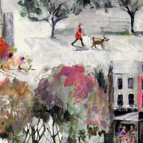 Walk In The Park - Mulberry fabric, from the Art & Soul collection by Prestigious Textiles