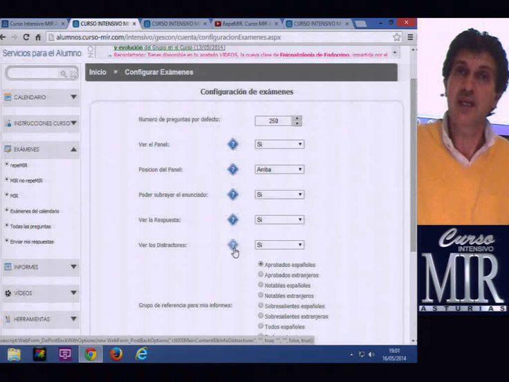 Configuración de exámenes e informes. Curso MIR Asturias