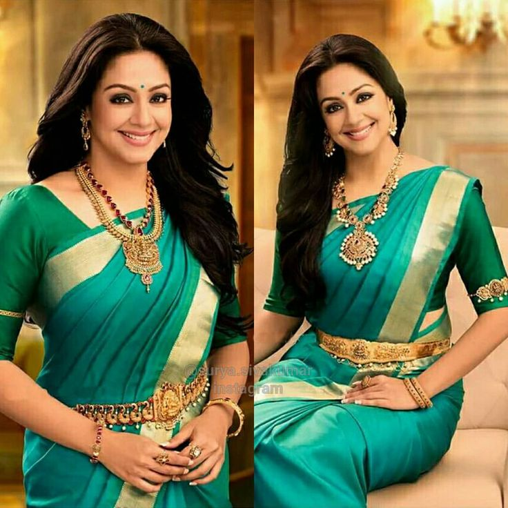 South Indian bride. Gold Indian bridal jewelry.Temple jewelry. Jhumkis. Green silk kanchipuram sari.braid with fresh jasmine flowers. Tamil bride. Telugu bride. Kannada bride. Hindu bride. Malayalee bride.Kerala bride.South Indian wedding. Jyothika