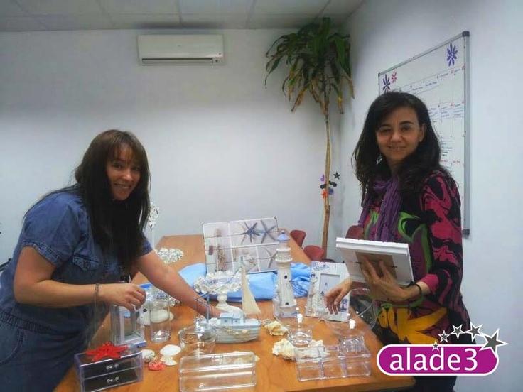 Preparando nuestra Candy Bar o mesa de dulces marinera  www.alade3.es