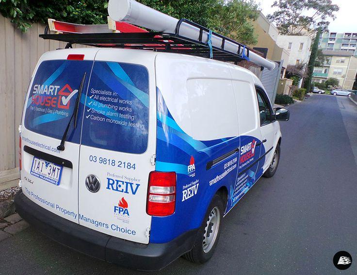 Van Wrap Caddy Wrap Smarthouse Partial Vehicle Wrap