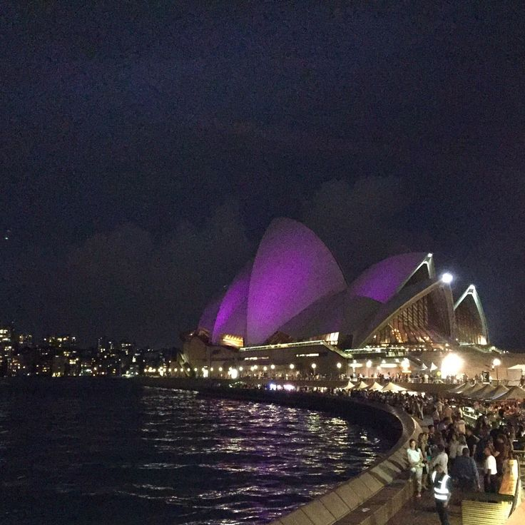 My favourite Sydney icon in the colours of amazing music icon - Prince #RIPprince #sydneyoperahouse #purplerain #prince
