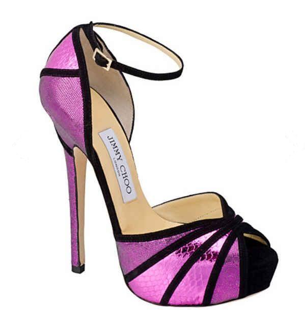 Jimmy Choo Kalpa Orchid Metallic Sandals Spring 2013
