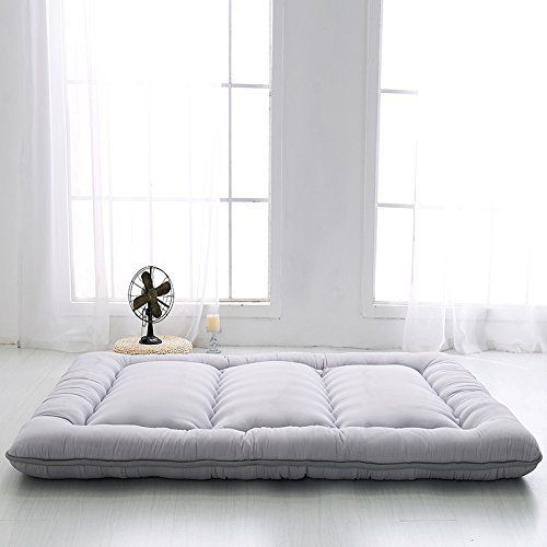 How to Clean a Futon: 1. Rotate the Mattress Rotate your futon mattress regularly. Depending on the type of futon mattress you have, you may have to rotate the mattress more often. Rotating your futon mattress will keep it from developing sink spots and give it a longer life. When you first... more details available at https://furniture.bestselleroutlets.com/living-room-furniture/futons/futon-mattresses/product-review-for-grey-futon-tatami-mat-japanese-futon-mattress-cheap-fu