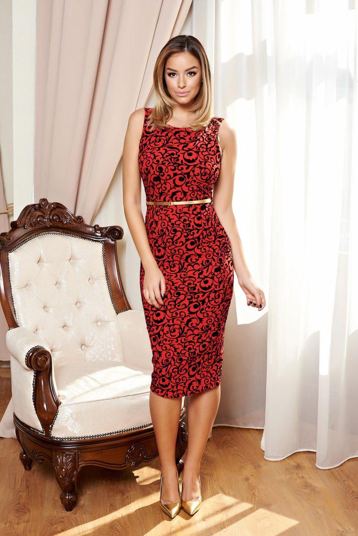 Rochie PrettyGirl Fusioned Red. Rochie Prettygirl eleganta si feminina, se preteaza perfect atat pentru tinute office cat si pentru  evenimente care necesita o anumita eticheta. Lungime: 91 cm de la subrat pana jos.