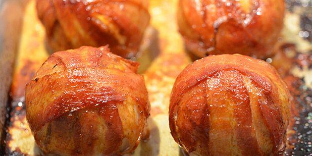 Lækre baconbomber med masser af bacon.