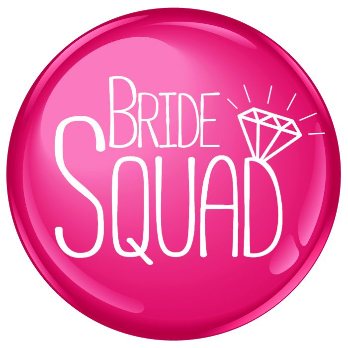 Bride Squad with Ring Badge