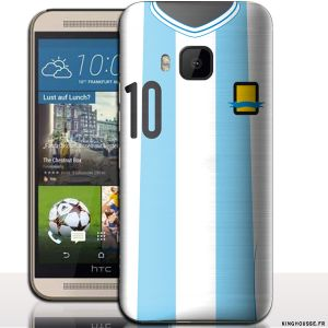Coque HTC ONE M9 Motif Maillot Equipe Argentine. #Argentine #M9 #accessoire #Telephone #Football