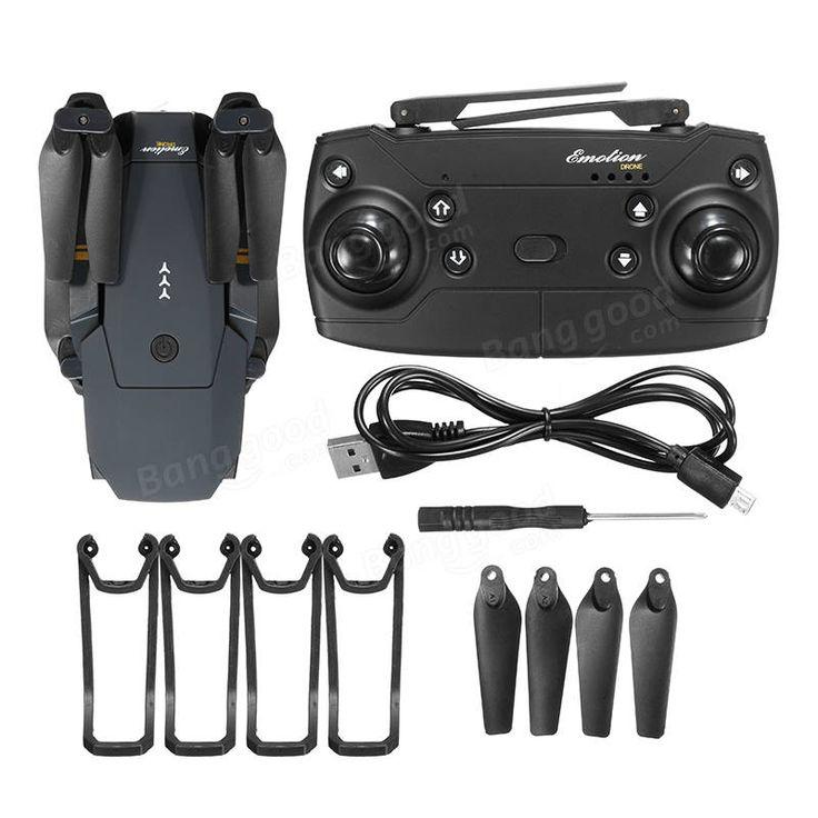 Eachine E58 WIFI FPV With 2MP Wide Angle Camera High Hold Mode Foldable RC Drone Quadcopter RTF Sale - Banggood.com