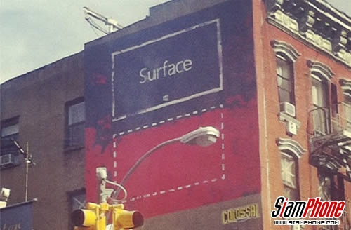 Microsoft Surface street art @ New York