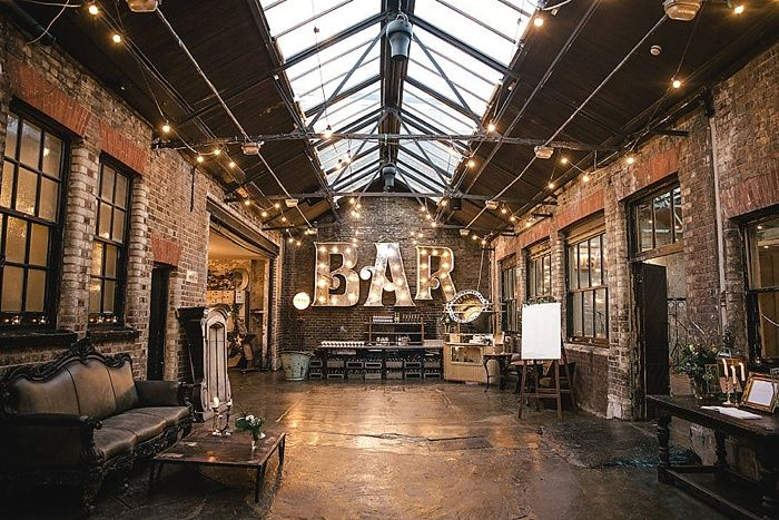 Cosy Romantic Urban Winter Warehouse Wedding by London Bride -