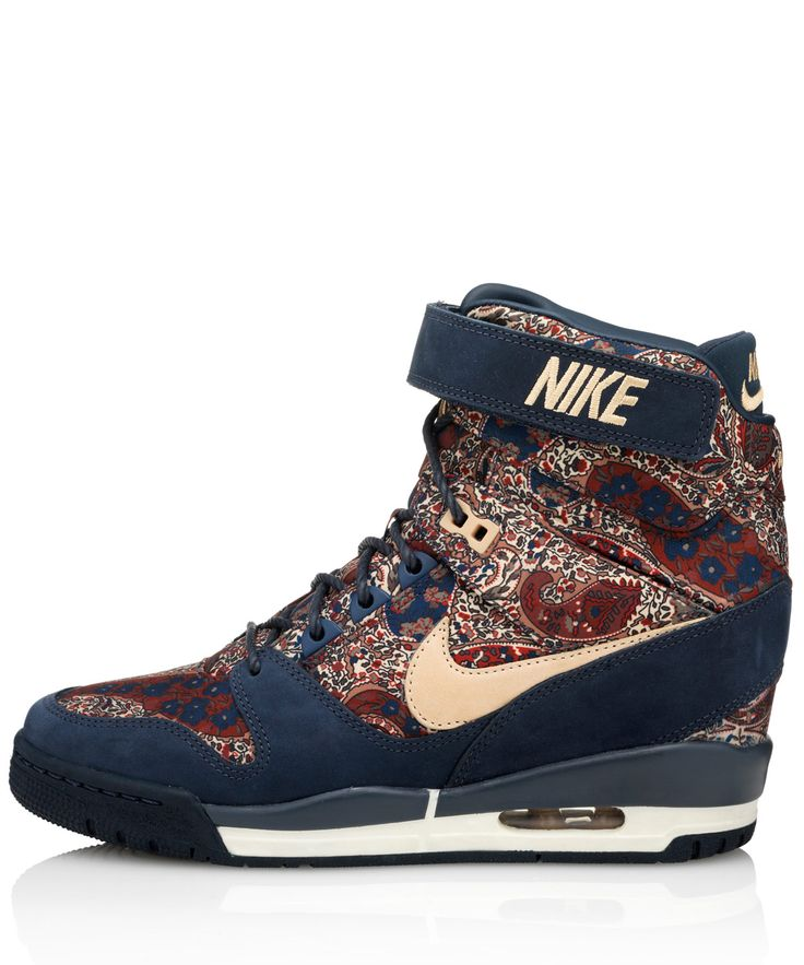 Nike X Liberty navy Bourton #LibertyPrint Air Revolution Sky Hi  #Sneakerboots…