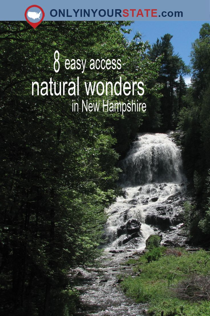 Travel | New Hampshire | Natural Wonders | Nature | Places To Visit | Natural Beauty | Waterfalls