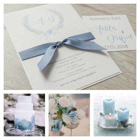 zaproszenia ślubne zimowe, bendea artline