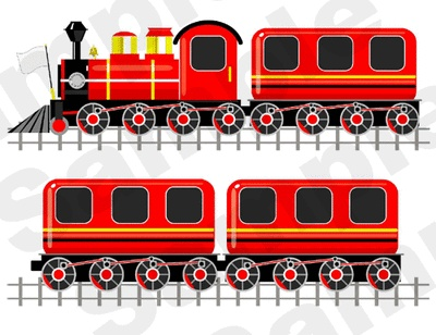 Red Train Wall Stickers