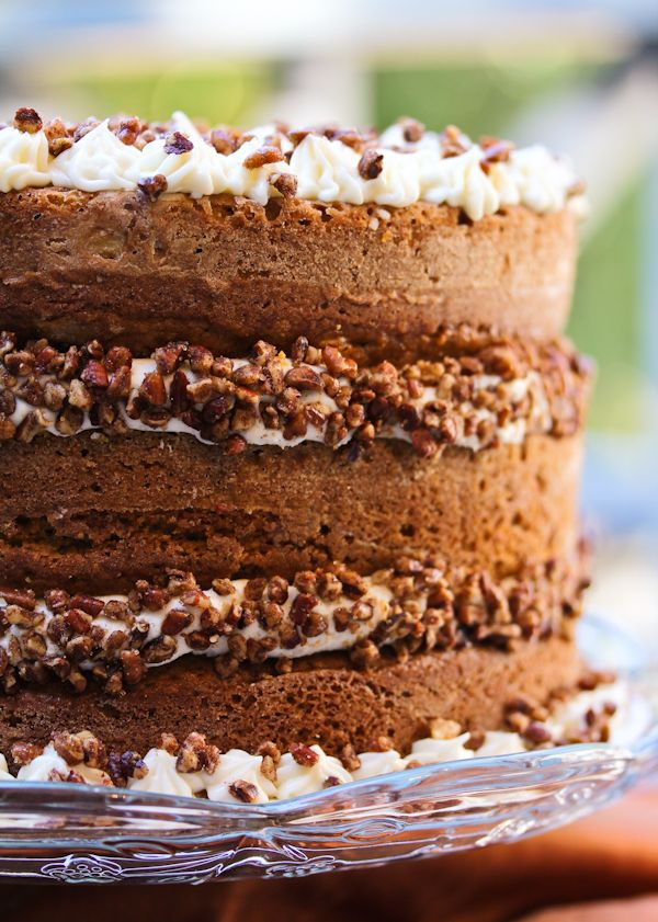 Pumpkin Spice Cake with Maple Frosting Recipe ~ The Maple Frosting is ...