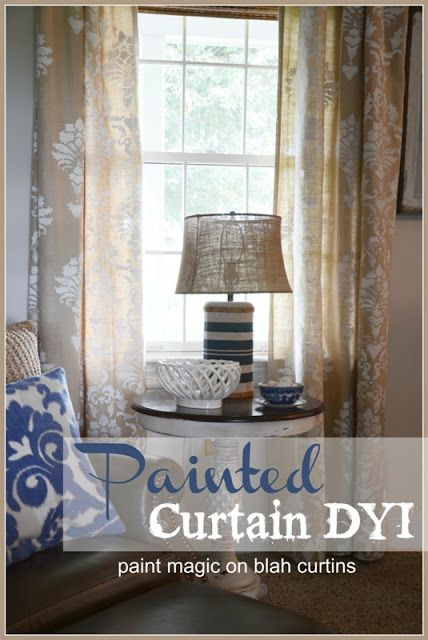 DYI Paining Curtains... so easy!