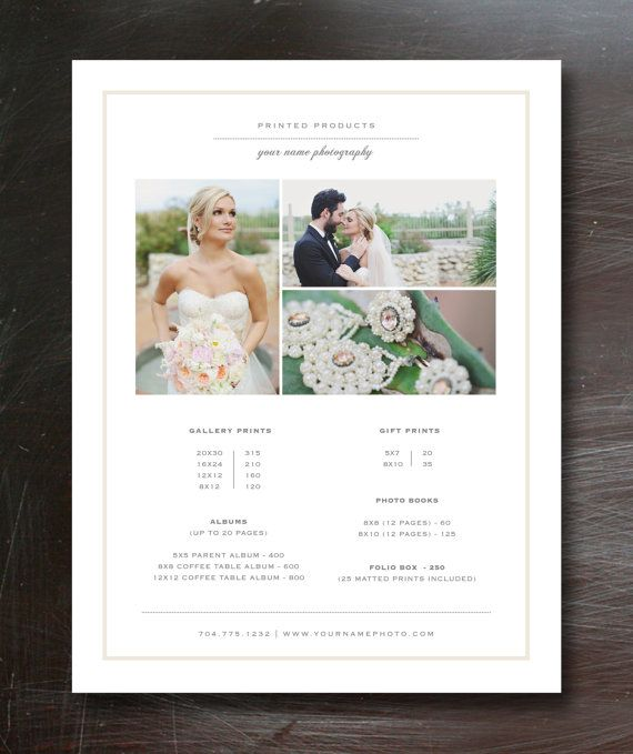 17 Best images about EI graphic design on Pinterest Photography - pricing sheet template