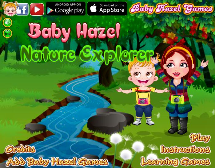 Go along with Baby Hazel and Ashley to explore nature by visiting farm, forest and riverside http://www.babyhazelgames.com/games/baby-hazel-nature-explorer.html