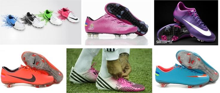 Imaginem há 30, 40, 50 anos atrás alguém dizer a um futebolista como o Pele, o Eusébio...que as chuteiras do futuro do Euro 2012 iriam ser cor-de-rosa, lilases, coloridas, douradas....:)  ao Maradona não iria fazer confusão porque ele já as devia ver assim ;)
