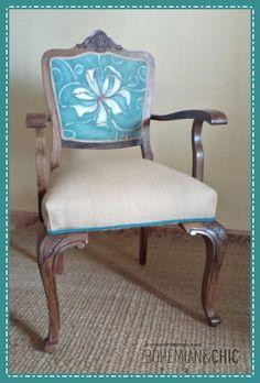 Como hacer tu propia tela para tapizar/How to make your own fabric to upholster