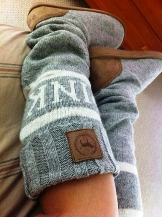 Cozy Victoria's Secret Knitted Boots
