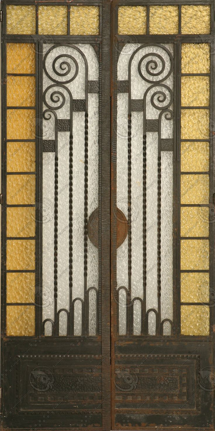 Automatic door details by borolo doors and windows doors rare - Vintage French Art Deco Cast Iron And Glass Doors In Good Original Condition Structurally Sound With Only Surface Rust And One Crack In The Glass See