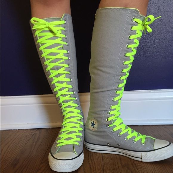 stunning knee high sneakers outfit
