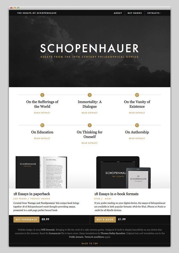 Complete Essays of Schopenhauer - Seven Books in One Volume by Arthur Schopenhauer