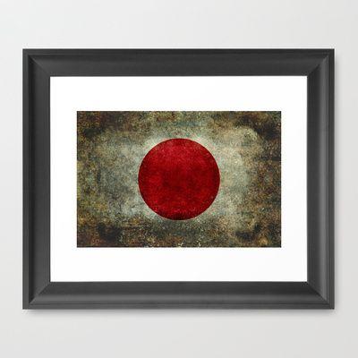 The national flag of Japan Framed Art Print by LonestarDesigns2020 - Flags Designs + - $32.00