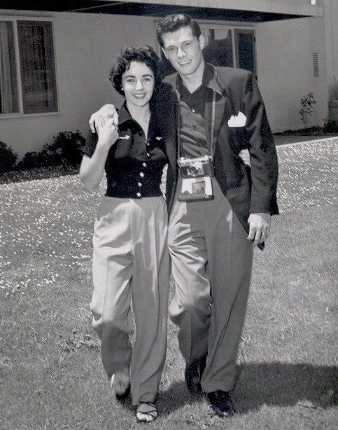 Elizabeth Taylor & first hubbie Conrad Hilton, Jr - Elizabeth had only been married once when the 50s got going -- by the end of the 50s she would be married 4 times!