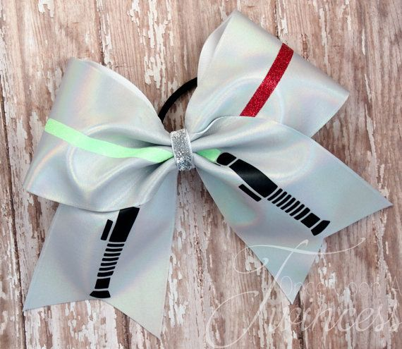Star Wars Cheer Bow Light saber gifts for by OnceUponATwincess