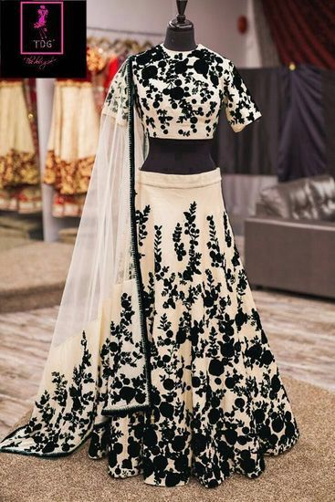 NEW LOOKING SUMMER BLACK COLOUR LEHENGA BEST PRICE ONLY FOR YOU… - ALPHA ENTERPRISE Lehengas for woman