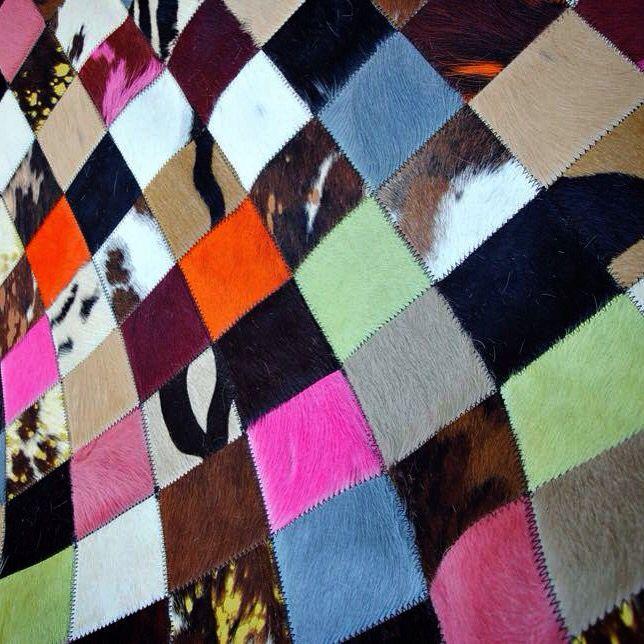 Skin rug - patchwork - in colors - www.koniaris.gr