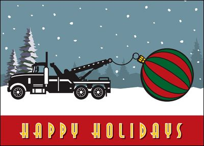 74 best automotive cards images on pinterest christmas cards choose the card for a trucking company that arrives with a big christmas surprise towing reheart Images
