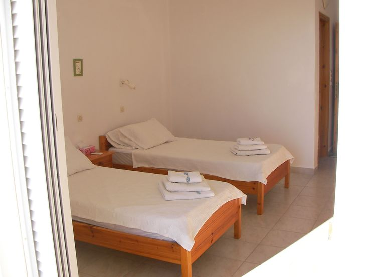 One of the 8 guest bedrooms at The Tower House, Kos