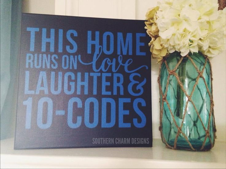 Southern Charm Designs - This Home Runs On BLU/BLK LEO Decor Sign, $28.00 (http://www.shopsoutherncharmdesigns.com/this-home-runs-on-blu-blk-leo/)