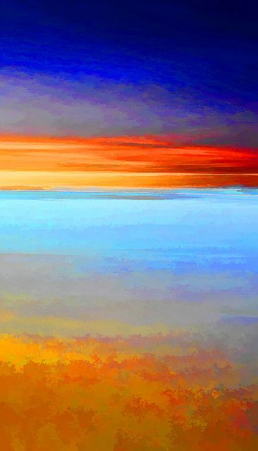 Painted Dawn   by chiaralily composition, content, palette