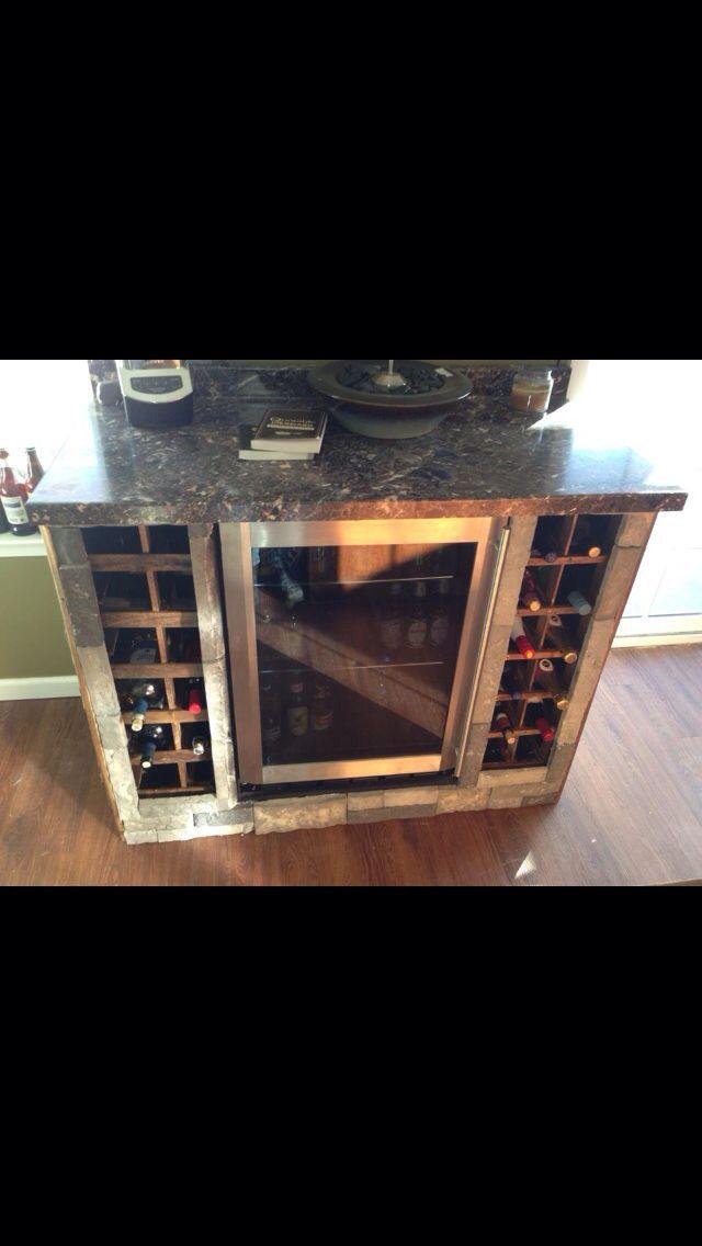 Diy Beverage Cooler Wine Rack Basement Bar Pinterest