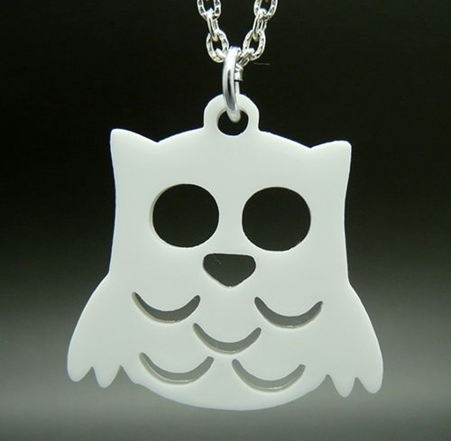Product description for Snowy Owl Charm Necklace
