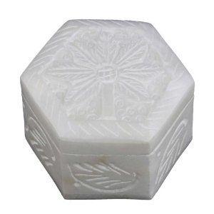 Boîte design en albâtre fait main en Inde - Idée cadeau noël: Amazon.fr: Cuisine & Maison