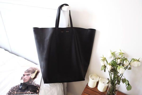 Personal style: Celine Cabas tote - large black | Celine Cabas ...