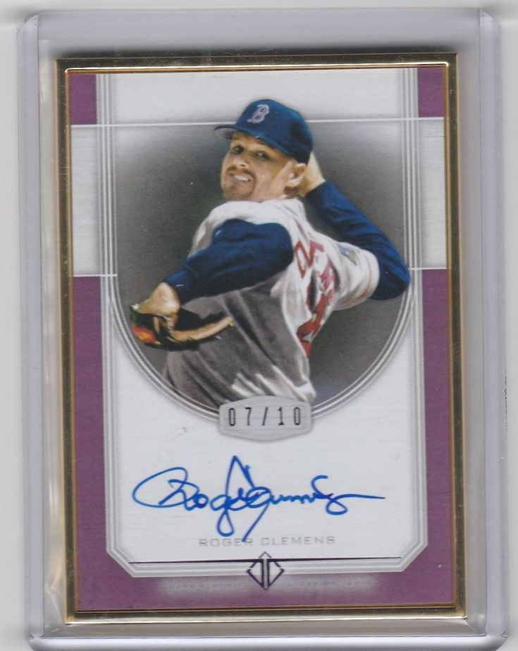 2017 topps transcendent roger clemens framed auto 7/10 boston red sox rare sp please retweet