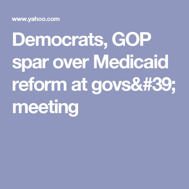 Democrats, GOP spar over Medicaid reform at govs' meeting