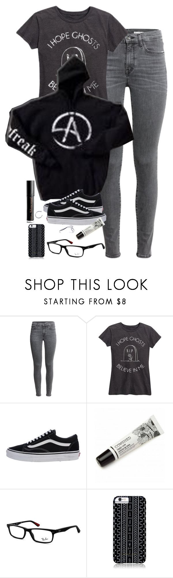 """""""super tired"""" by fall0uterin ❤ liked on Polyvore featuring Vans, Bourjois, Cowshed, Ray-Ban and Savannah Hayes"""