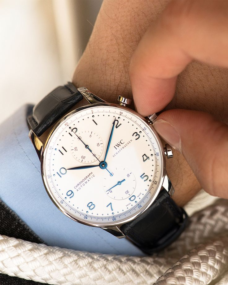 Discover the IWC Portugieser Chronograph. Stylish and sophisticated, the Portugieser Chronograph has been the most sought-after model in the Portugieser family since 1998.