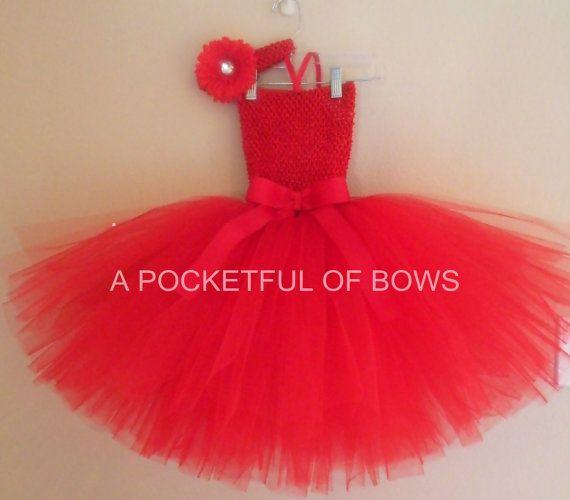 Red Tutu Dress, Toddler Tutu Dress, Red Tutu on Etsy, $28.99 Sofia