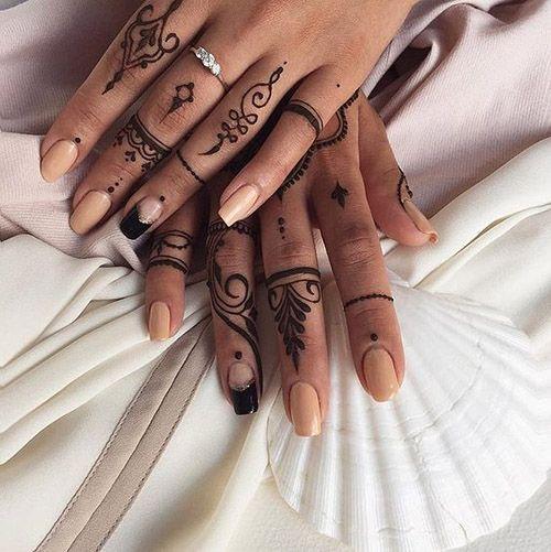 best simple mehndi designs for fingers