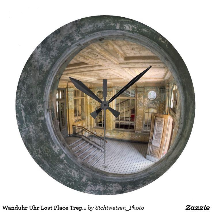 wanduhr uhr lost place treppe uhr lost und orte. Black Bedroom Furniture Sets. Home Design Ideas