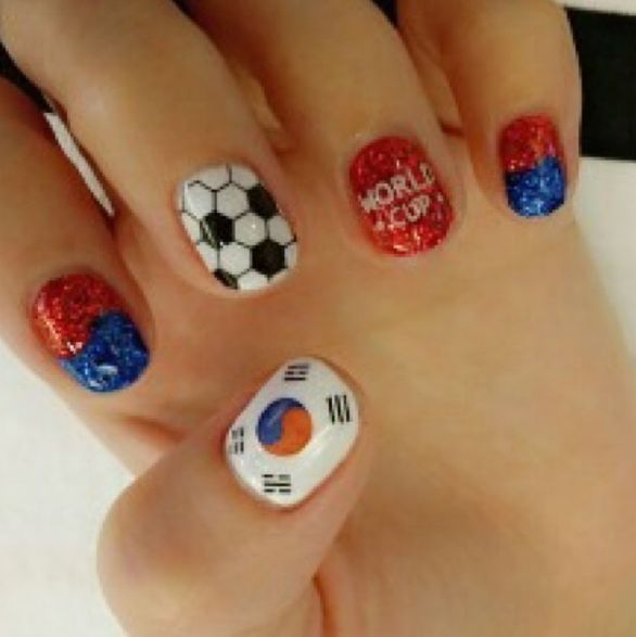 Ultimate World Cup Nail Art 2014 Gallery - #Trending 2014 | #Korea by Daraxxi